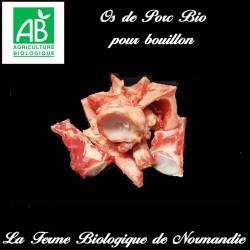 os de porc fermier bio pour bouillons et fonds de jus