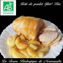 Sublime rôti de poulet bio (filet) poids 600g