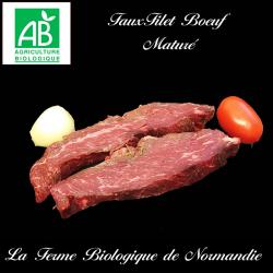 Savoureux faux filet de boeuf bio maturé 400g (2 pièces)