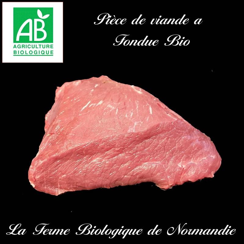 Savoureuse piece de viande a fondue, boeuf d'herbe bio 400g