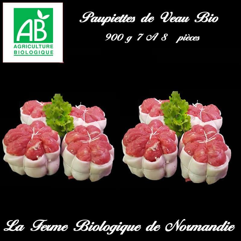 Succulentes paupiettes de veau bio 7 a 8 pièces 900g