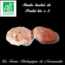 Steaks hachés de poulet bio...