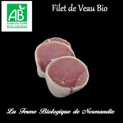 sublime filet de veau bio, 200g, race limousine, race a viande, en direct du producteur, la ferme biologique de Normandie.