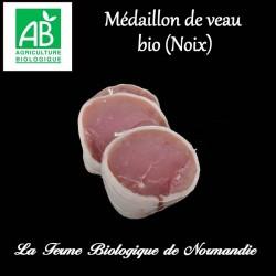 Délicieux médaillon de veau (noix) 200g en direct du producteur, la ferme biologique de Normandie.