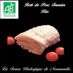 Savoureux roti de porc fermier bio 700g