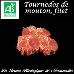 Succulent tournedos de mouton, filet poids 200g, pour deux personnes, en direct du producteur, la ferme biologique de Normandie.