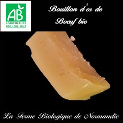 succulent bouillon d'os de boeuf bio,  source de collagène naturel.