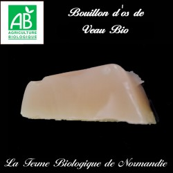 Succulent bouillon d'os de veau bio,  source de collagène naturel.
