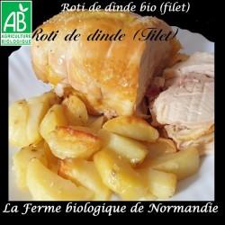 Savoureux rôti de dinde bio (filet) poids 600g  en direct du producteur, la ferme biologique de Normandie.