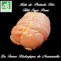 Sublime rôti de poulet bio (filet) poids 600g sans peau, sans os, 100 % viande, en direct du producteur.