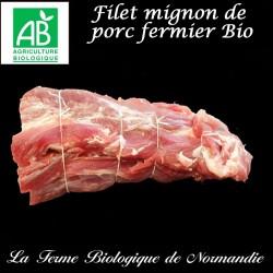 succulent filet mignon  bio  en direct du producteur la ferme biologique de Normandie.