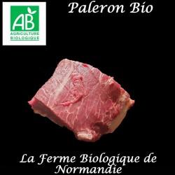 Délicieux paleron de boeuf d'herbe bio poids 1 kilo, en direct du producteur la ferme biologique de Normandie.