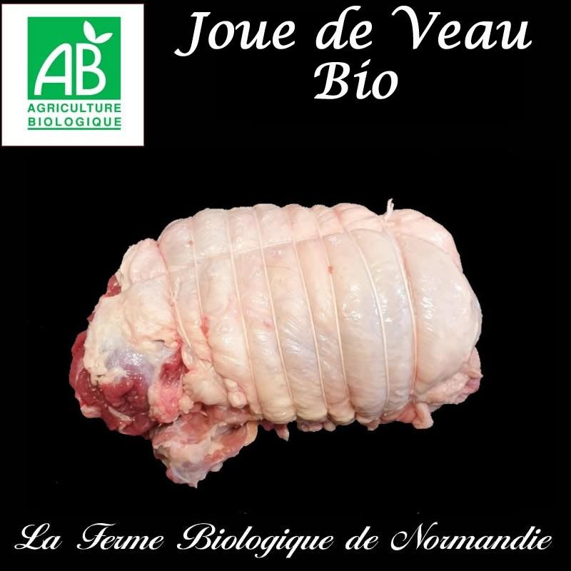 Succulente joue de veau bio poids 790g en direct du producteur la ferme biologique de Normandie