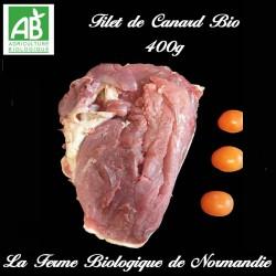 Délicieux filet de canard bio 400g en direct du producteur la ferme biologique de Normandie.