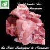 Succulent poulet fermier bio découpe basquaise, poids 2,2 k en direct du producteur la ferme biologique de Normandie.
