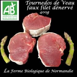 Succulents touredos de veau bio, faux filet, dénervé, extra tendre et fondant  400g