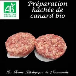 Succulente préparation hachée de canard bio en direct du producteur, la ferme biologique de Normandie