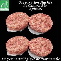 Succulente préparation hachée de canard bio500G 4 pièces  en direct du producteur, la ferme biologique de Normandie