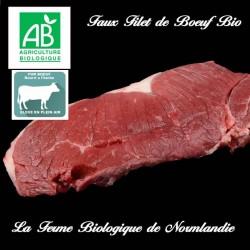 Sublime faux filet de boeuf bio poids 300g en direct du producteur, la ferme biologique de Normandie.