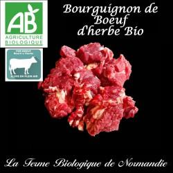 Sublime bourguignon de boeuf d'herbe bio, 500g, en direct du producteur , laferme biologique de Normandie.