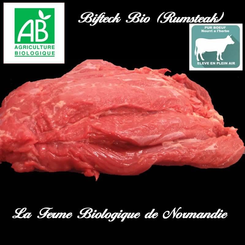 Bifteck bio découpe épaisse poids 300g race limousine, en direct du producteur, la ferme biologique de Normandie.