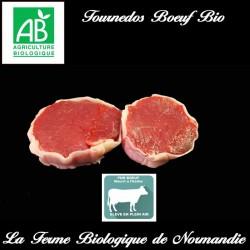 Sublimes tournedos de boeuf bio  400g race limousine, en direct du producteur la ferme biologique de Normandie.