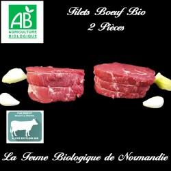 sublimes filets de boeuf, bio, poids 400g, race limousine, en direct du producteur, la ferme biologique de Normandie.