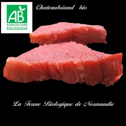 Sublime chateaubriand boeuf bio poids 400g