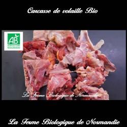 Carcasse de volaille bio pour fond jus ou bouillon