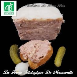 Délicieuses rillettes de porc bio poids 200g