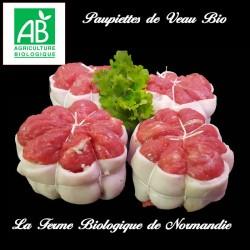 Promo délicieuses paupiettes de veau bio, poids 900g