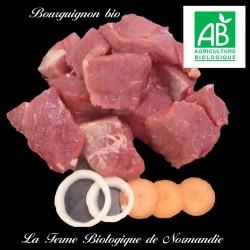 Succulent boeuf bourguignon (race limousine) 2 kilos
