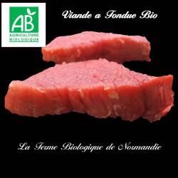 délicieuse viande à fondue,boeuf bio race limousine,  400g
