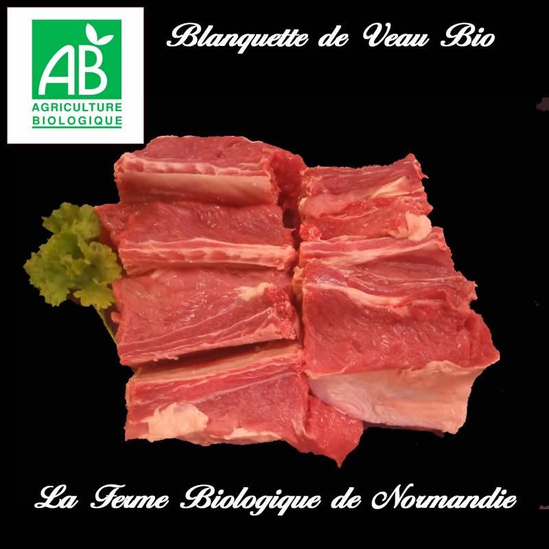 blanquette de veau bio sans os, poids 1,5 kilo a mijoter.
