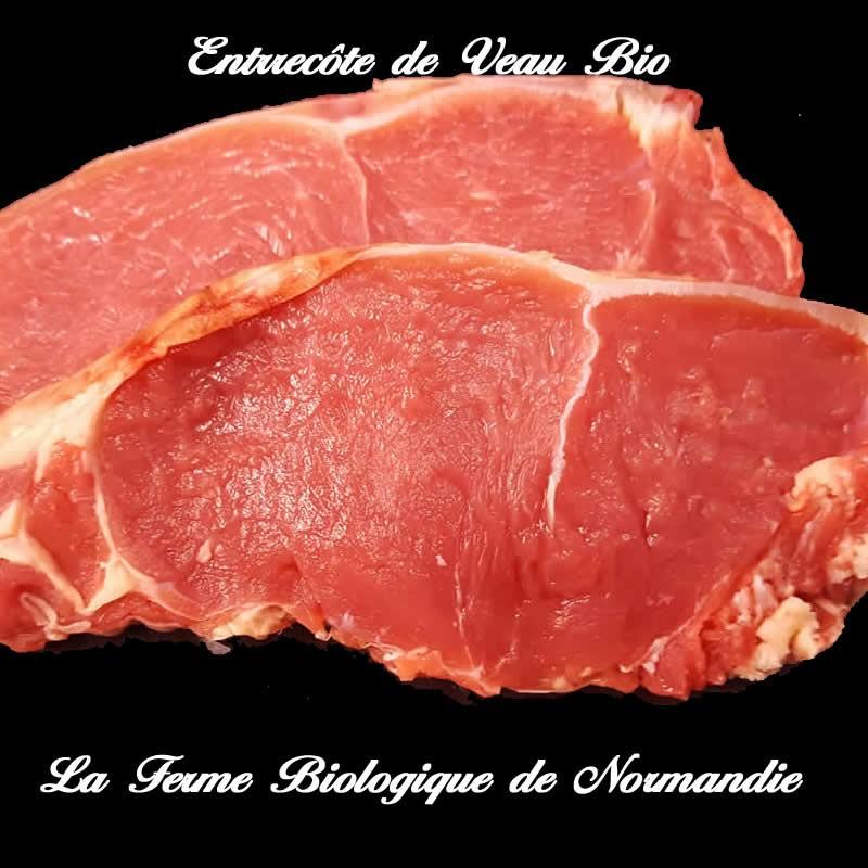 Entrecote de veau bio, première, seconde, en direct , à poeler