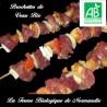 6 Succulentes brochettes de veau bio (600g) en direct du producteur.