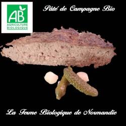 succulent paté de campagne bio poids 200g en direct du producteur la ferme biologique de Normandie