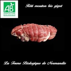 Succulent rôti de mouton bio gigot sans os  en direct du producteur la ferme biologique de Normandie