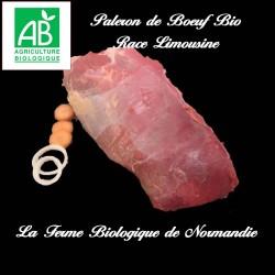 Savoureux paleron de boeuf bio poids 1 kilo , en direct du producteur, la ferme biologique de Normandie.
