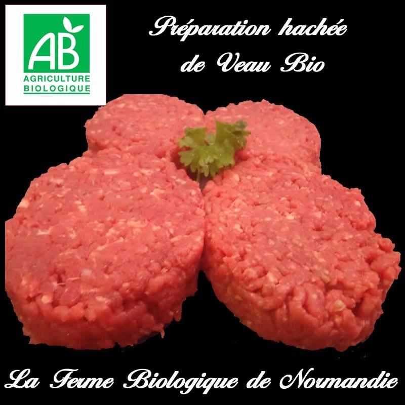 Délicieux steaks hachés de veau bio,  poids 1 kilo 8 pièces