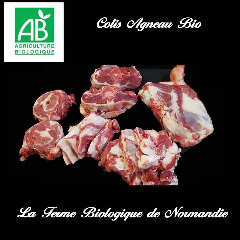 Colis de viande d'agneau bio , élevé en plein air, poids  3 kilos