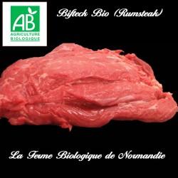 Excellent bifteck rumsteak bio , race limousine, race à viande, poids 200g