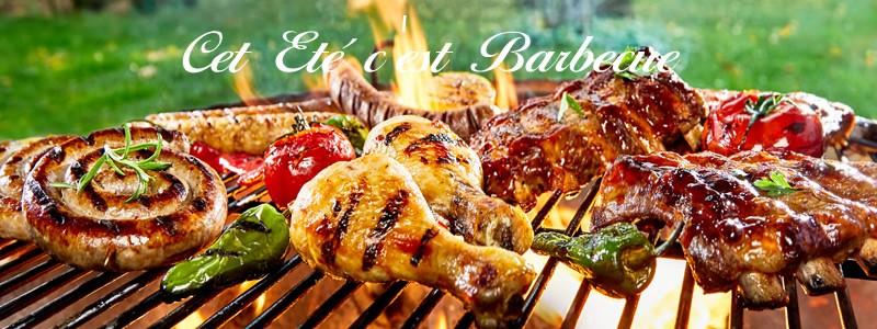 barbecue bio brochettes saucisses travers de porc