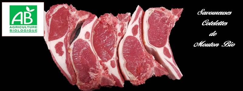 savoureuses cotelettes de mouton bio